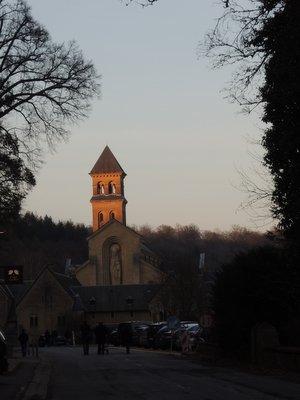 Arrivée à l'abbaye d'Orval