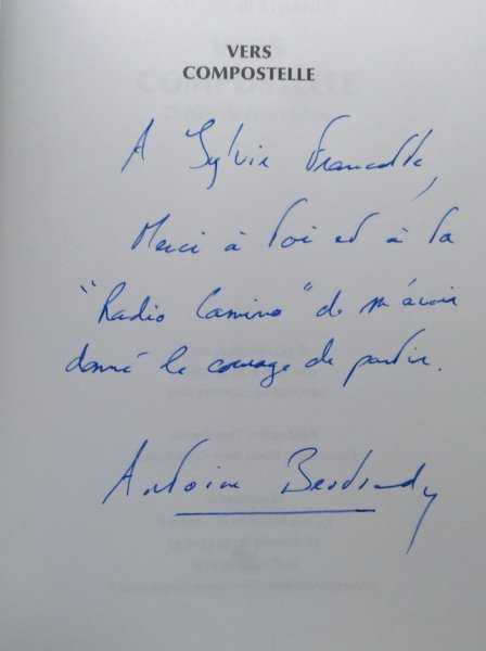 Dédicace par Antoine Bertrendy