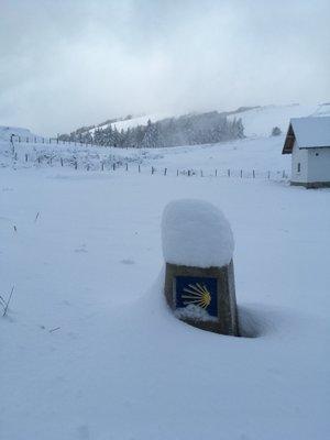 Le col d'Ibaneta sous la neige