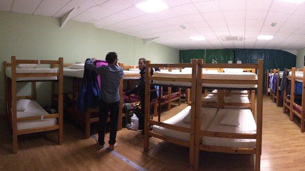 Dortoir presque vide à Najera
