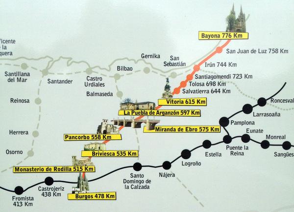 Camino Vasco del Interior : carte