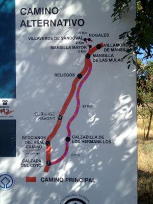 Variantes sur le Camino Frances