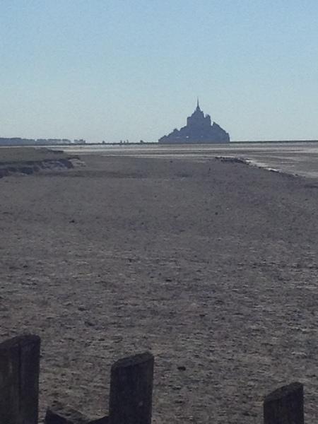 Arrivée au Mont Saint Michel