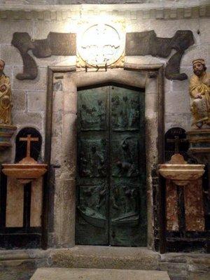 La Porte Sainte à la cathédrale de Santiago