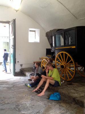 La salle d'attente des pèlerins aux Reyes Catolicos