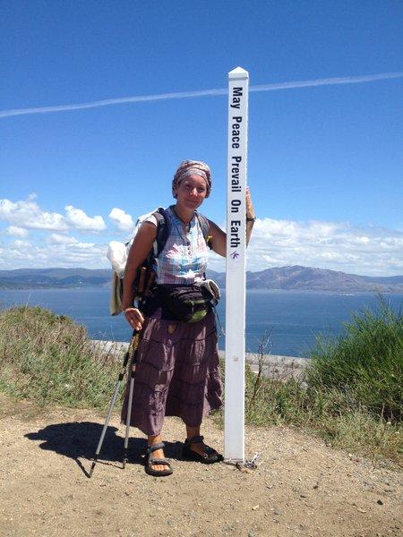 Totem de la paix à Fisterra, Galice