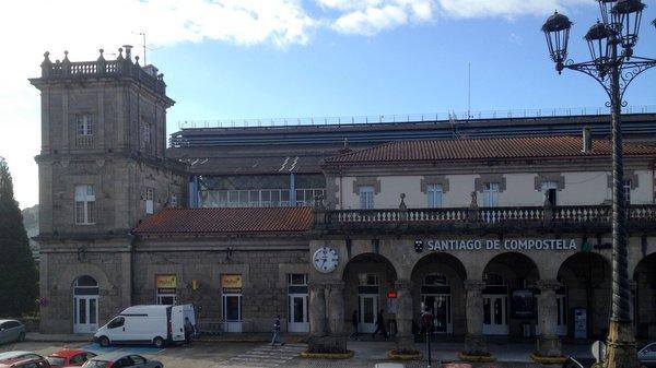 La gare des trains de Saint Jacques de Compostelle