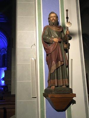 Statue de Saint Jacques dans la Jakobskirche