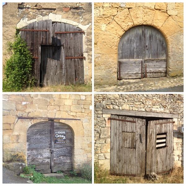 Vieilles portes en Quercy