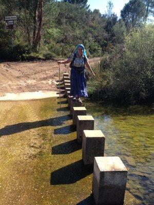 Rivière à traverser sur la Via Algarviana