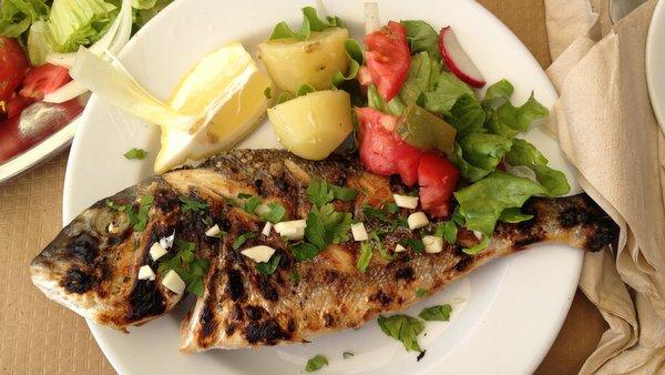 Daurade grillée à Silves