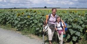 Sur le chemin de Saint Jacques avec des enfants