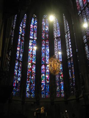 Les vitraux de la chapelle palatine