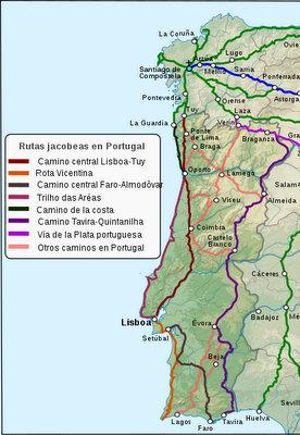 Os caminhos em Portugal