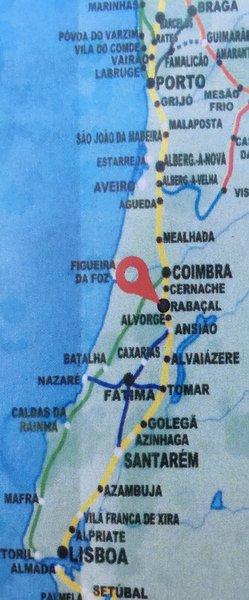 Carte du Caminho Portugues