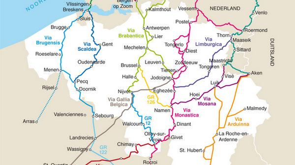 Les chemins de Saint Jacques en Belgique