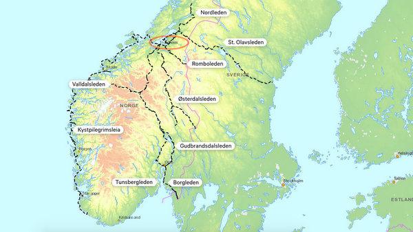 Chemins de Saint Olav