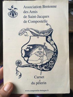 Credenciale des amis bretons de Saint-Jacques de Compostelle
