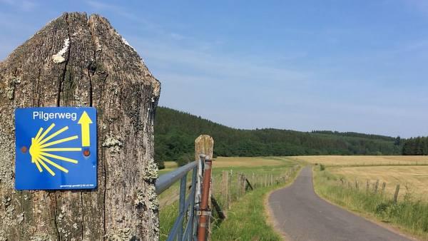 Eifel : balisage du chemin de Saint Jacques