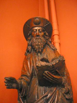 Statue de Saint-Jacques au Musée Communal de Huy
