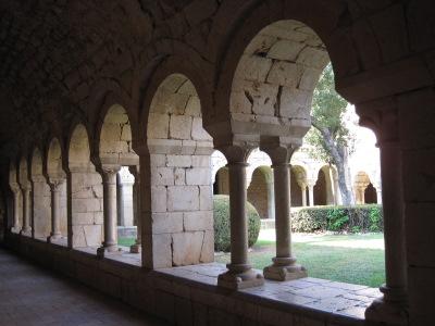 Le cloître de l'Abbaye canoniale Santa Maria de Vilabertran