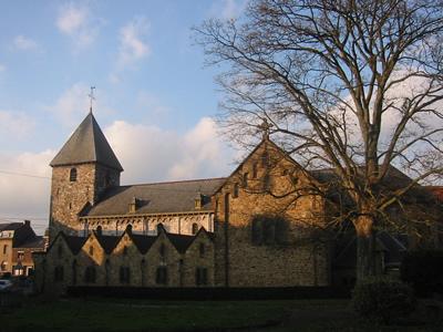 L'église Saint Pierre, dite des Sarrasins, à Andenelle