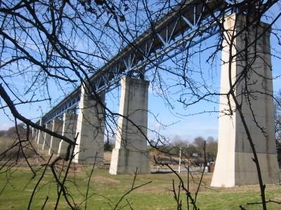 Viaduc de Moresnet (1300m de long et 65m de haut)