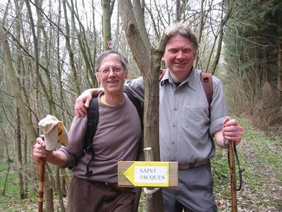 Luc, notre guide, et Philippe, le responsable des topo-guides