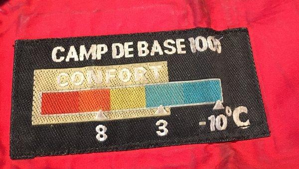 Température sac de couchage Millet Camp de Base
