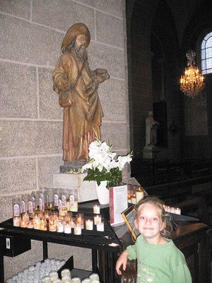 La statue de Saint Jacques à la cathédrale du Puy