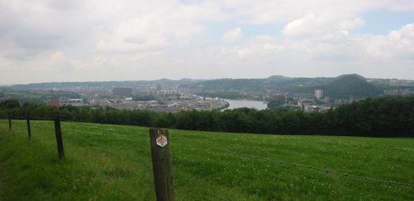 La vue sur la Meuse en arrivant à Jupille