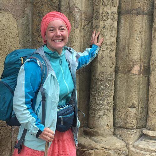Sylvie a trouvé sa coquille devant l'église Sao Tiago de Coimbra (DR)