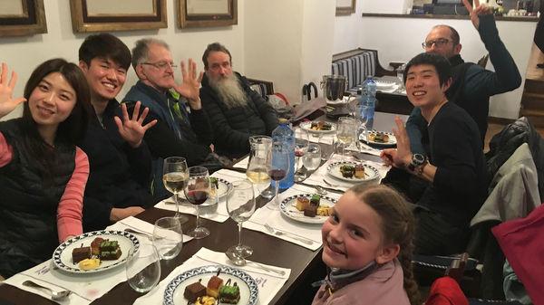 Le repas des pèlerins au Parador