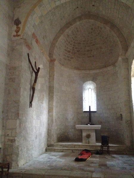Nuit dans la chapelle Saint Sernin près de Lauzerte