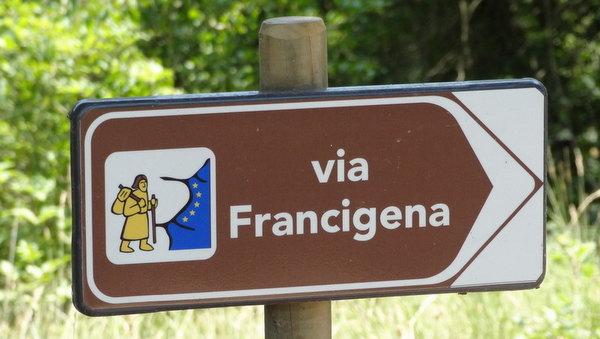 Balisage de la Via Francigena