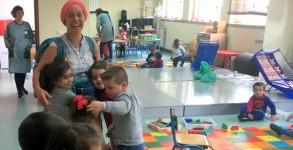 Une pèlerine à l'école
