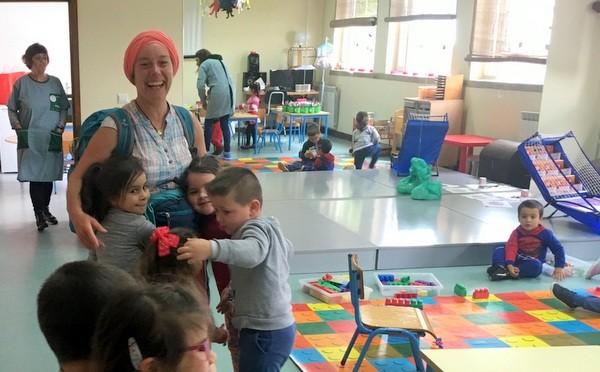 Une pèlerine à l'école !