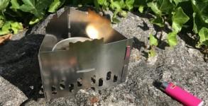 Test du réchaud Esbit à combustible solide en acier inoxydable